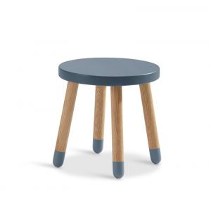 "FLEXA Play Hocker - Kinderstuhl ""Eiche"" Blueberry"