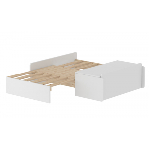 FLEXA White MDF Sofabett mit Bettkasten